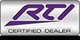 RTI Certified Dealer logo